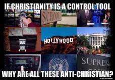 Jeżeli Biblia jest narzędziem kontroli, to dlaczego media, szkolnictwo, przemysł rozrywkowy, rząd i organizacje międzynarodowe są jej przeciwne?